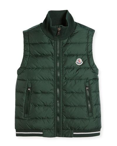 Zip-Up Stand-Collar Vest, Size 8-14