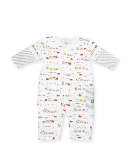 Kissy Kissy Red Caboose Pima Coverall, Size 9-24