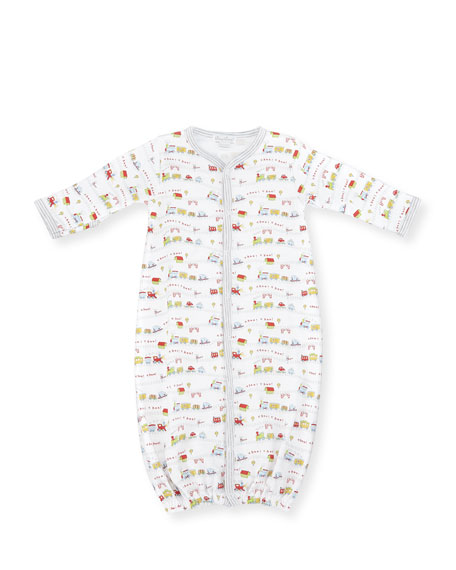 Kissy Kissy Red Caboose Convertible Pima Sleep Gown,