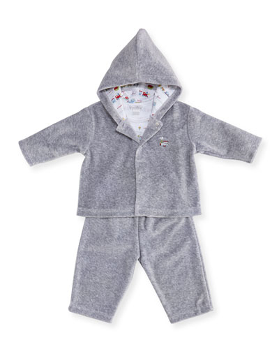 Red Caboose Velour Tracksuit Layette Set, Size 3-18 Months