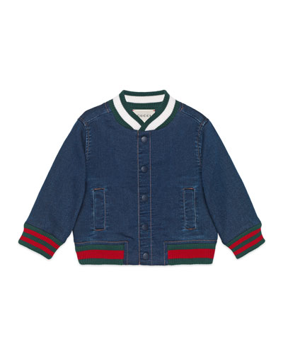 Denim Bomber Jacket, Size 9-36 Months