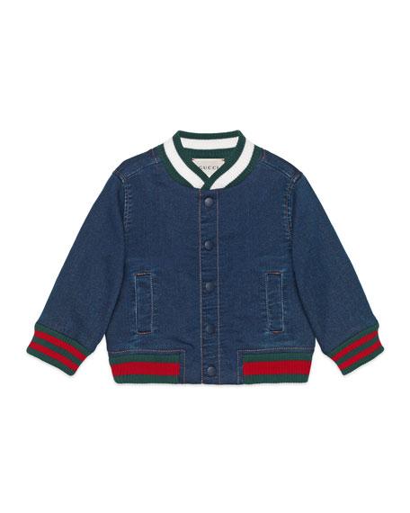 Gucci Denim Bomber Jacket, Size 9-36 Months