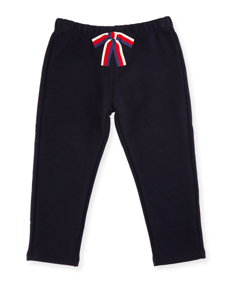 Gucci Crop Jersey Pants w/ Sylvie Web Bow,
