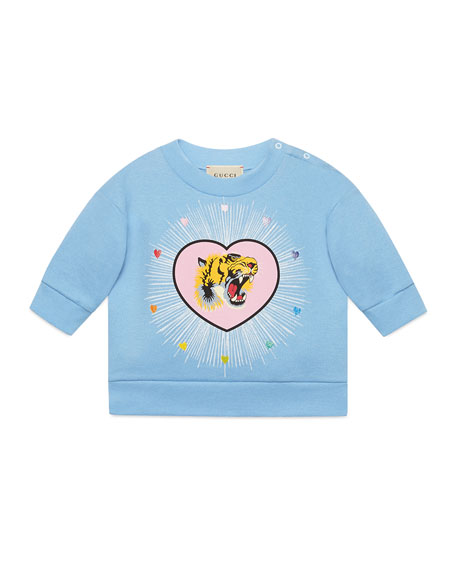 Blind For Love Tiger Heart Sweatshirt, Size 9-36 Months