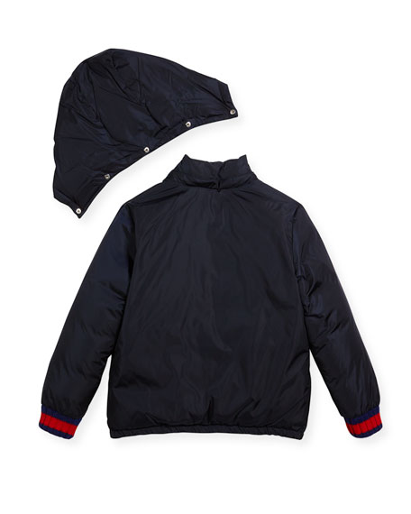 Hooded Zip-Front Puffer Coat, Sizes 4-12