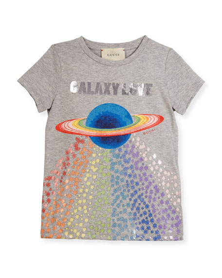 Gucci Galaxy Love Short-Sleeve T-Shirt, Size 4-12