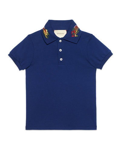 Short-Sleeve Dragon Polo, Size 4-12