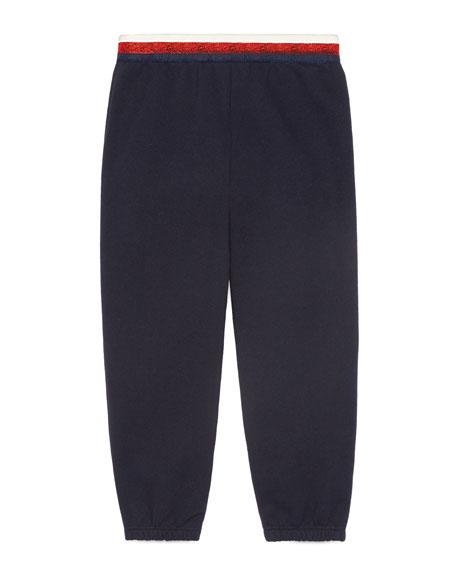 Metallic Web Jogger Pants, Size 4-12