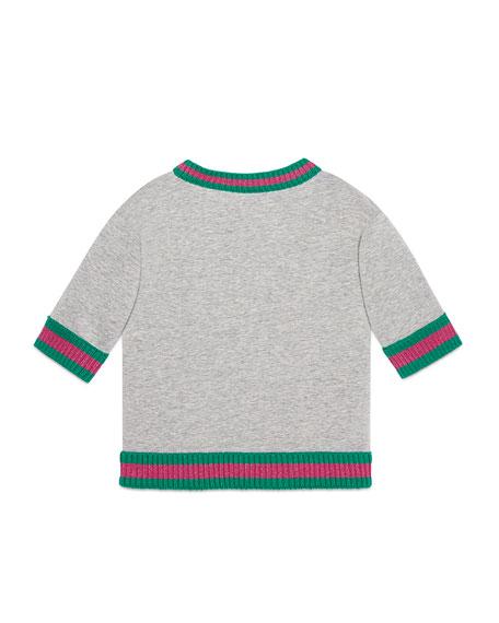 Gucci Power Sequin Diamond Sweatshirt, Size 4-12