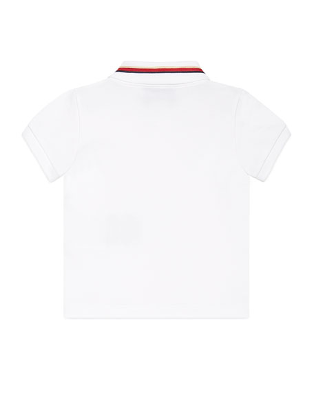 Sylvie Web Stretch Pique Polo Shirt, 9-36 Months