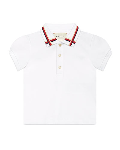 Sylvie Web Stretch Pique Polo Shirt, 9-36 Months