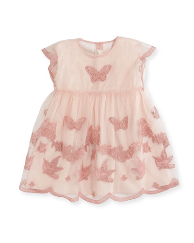 Tulle Embroidery Dress, Size 9-36 Months