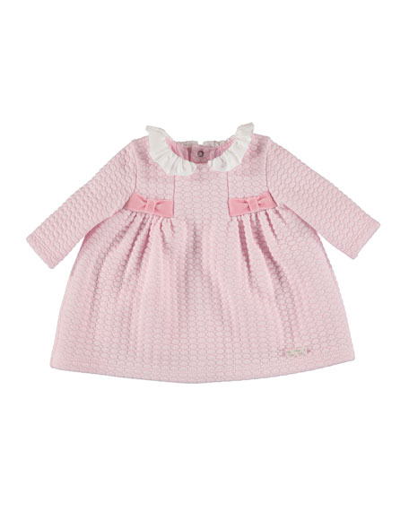 Long-Sleeve Quilted Knit Dress, Size 4-12 Months