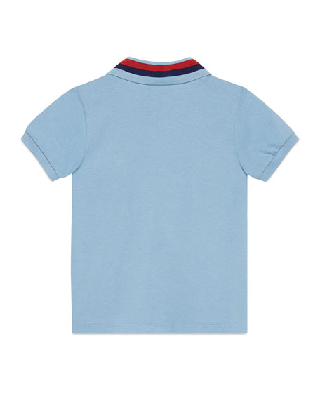 Short-Sleeve Stretch Jersey Polo, Size 4-12