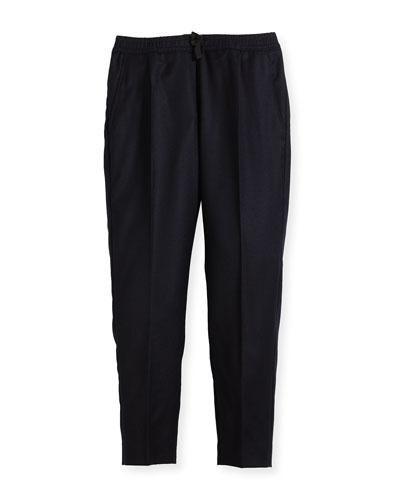 Wool-Cashmere Jogging Pants, Size 4-12