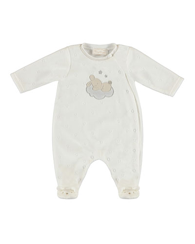 Bunny on Cloud Velour Footie Pajamas, Size 4-12 Months