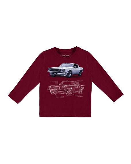 Long-Sleeve Car T-Shirt, Size 3-7