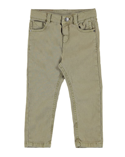 Structured Stretch Trouser Pants, Size 3-7
