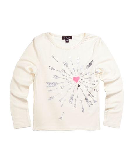 Imoga Heart & Arrow Graphic Jersey Tee, White,