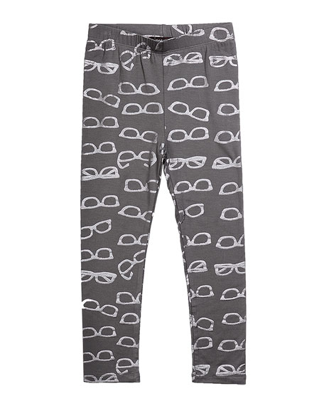 Imoga Jersey Leggings with Metallic Shades-Print, Gray, Size