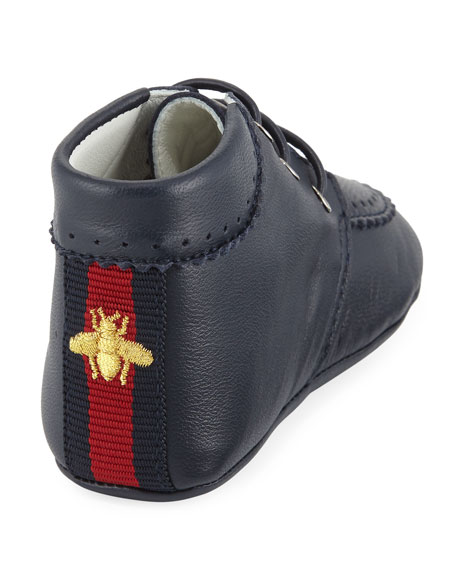 Leather Bootie with Bee, Infant