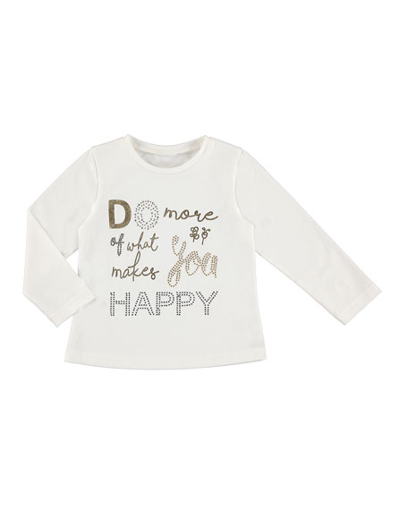 MAYORAL Long-Sleeve Letters Tee, Size 3-7