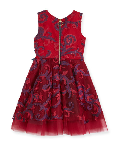Ava Masquerade Ball Swirl Dress, Size 7-14