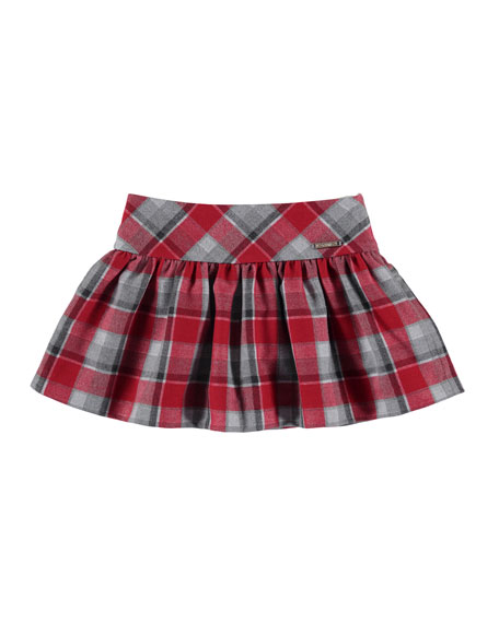 Check A-line Skirt, Size 3-7