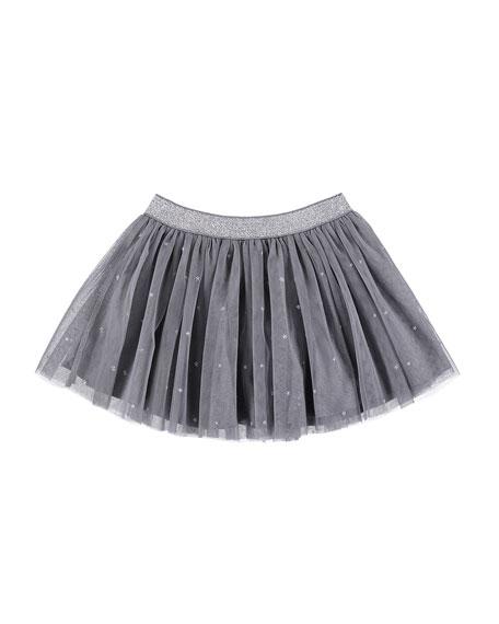 Stars Pleated Tulle Skirt, Size 3-7