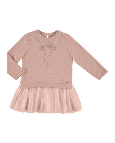 Plush Tulle-Skirt Dress, Size 3-7