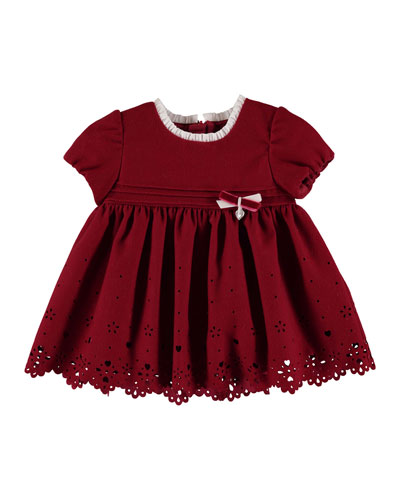 Scalloped-Hem Cutout Dress, Size 6-36 Months