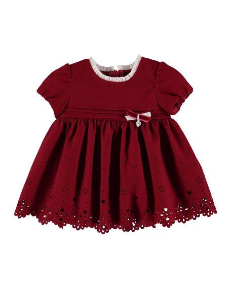 Scalloped-Hem Cutout Dress, Size 6-36 Months