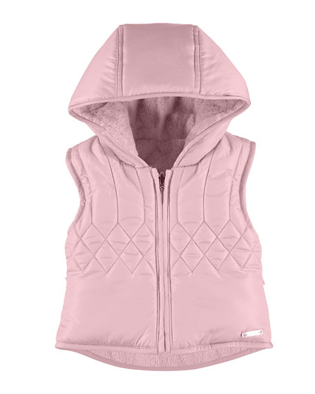 Quilted Hooded Fleece-Lined Vest, Size 6-36 Months