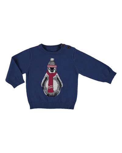Long-Sleeve Penguin Sweater, Size 6-36 Months