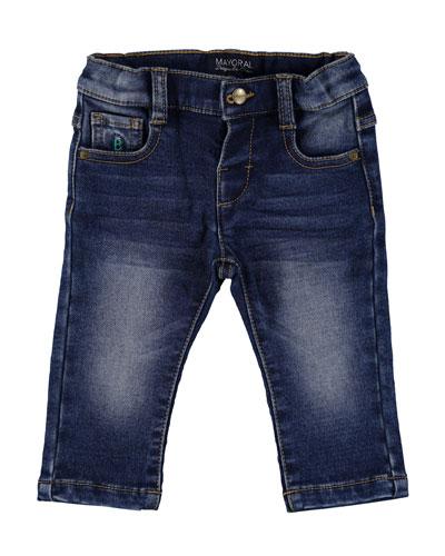 Dark Wash Denim Jeans, Size 6-36 Months