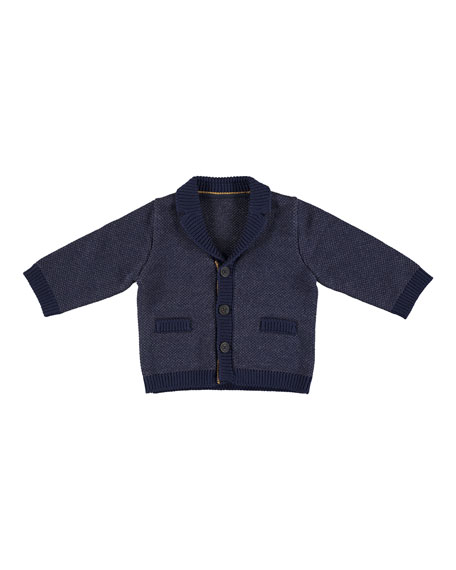 Knit Shawl-Collar Cardigan, Size 6-36 Months