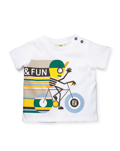 Short-Sleeve Bicycle Graphic T-Shirt, Size 12-24 Months