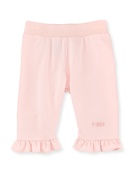 Fendi Sweatpants with Ruffle Trim, Size 12-24 Months