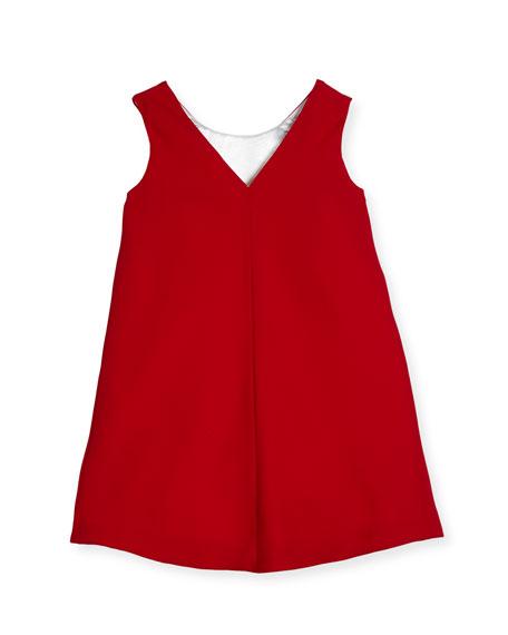 Colorblock A-Line Dress, Size 7-14