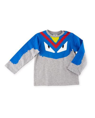 Boys' Long-Sleeve Monster Eyes Graphic T-Shirt, Size 12-24 Months