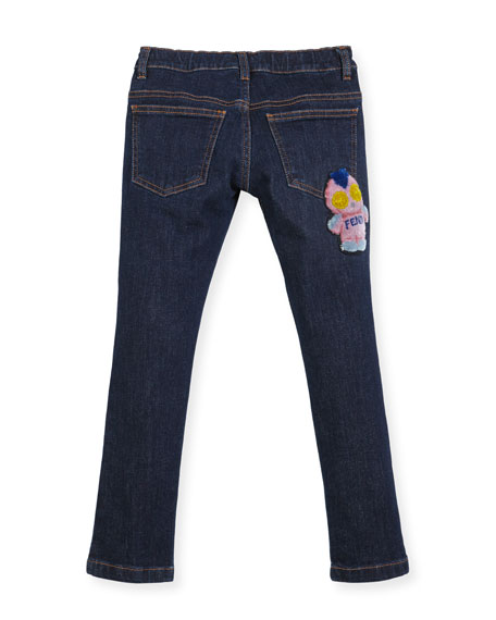 Girls' Denim Pants w/ Fendirumi Back Pocket, Size 6-8