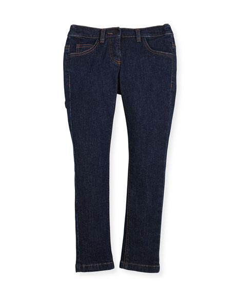 Girls' Denim Pants w/ Fendirumi Back Pocket, Size 6-8