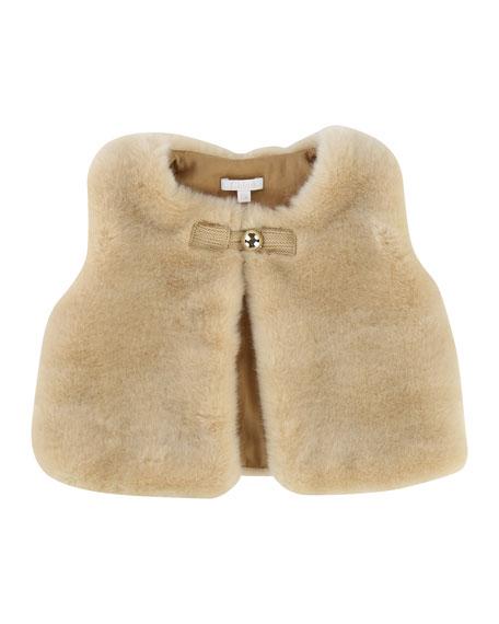 Sleeveless Faux-Fur Vest, Size 12-18 Months