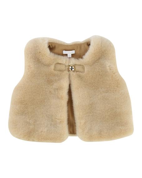 Sleeveless Faux-Fur Vest, Size 2-3