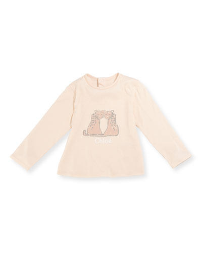 Leopard Graphic Long-Sleeve T-Shirt, Size 2-3