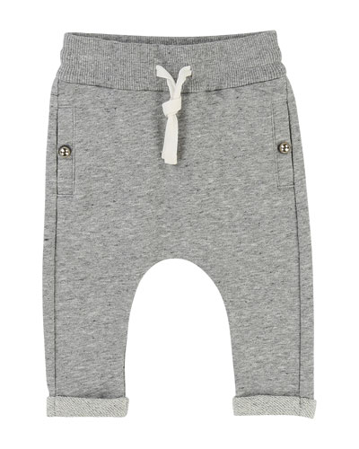 Jogger Sweatpants w/ Rolled Ankle Cuffs, Size 12-18 Months