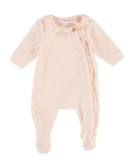 Chloe Ruffle-Trim Footie Pajamas, Size 3-9 Months