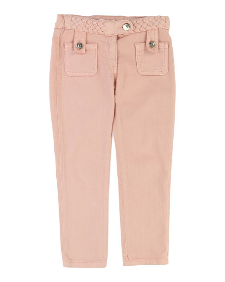 Chloe Denim Braided Trousers, Size 4-5