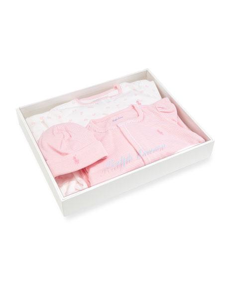 4-Piece Layette Set, Pink, Size Newborn-9 Months