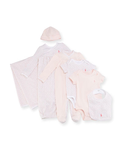 7-Piece Boxed Layette Set, Pink, Size 3-9 Months